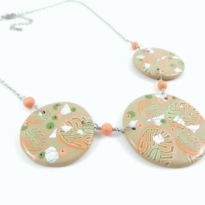 Jolissime collier corail rond 1 1